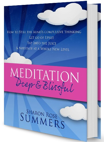 Meditation - Deep and Blissful by Sharon Rose Summers - Book Cover Design